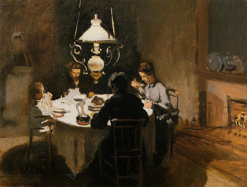 The Dinner. Claude Oscar Monet
