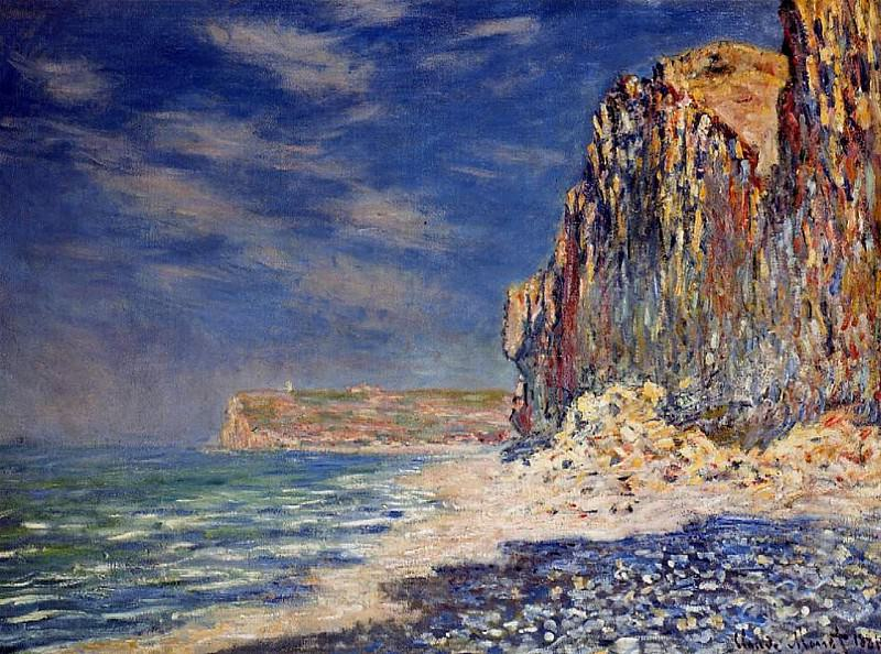 Cliff near Fecamp. Claude Oscar Monet