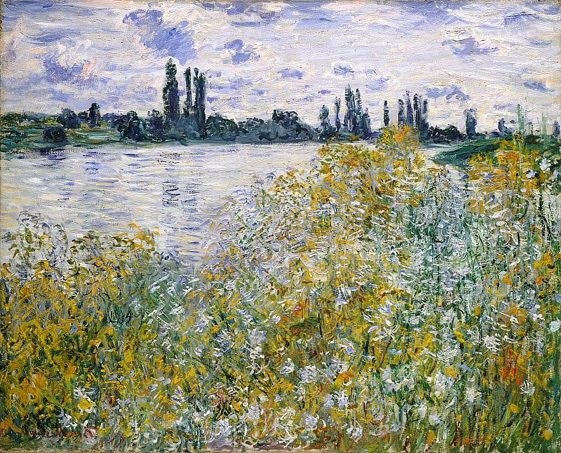 Isle of Flowers on Siene near Vetheuil. Claude Oscar Monet