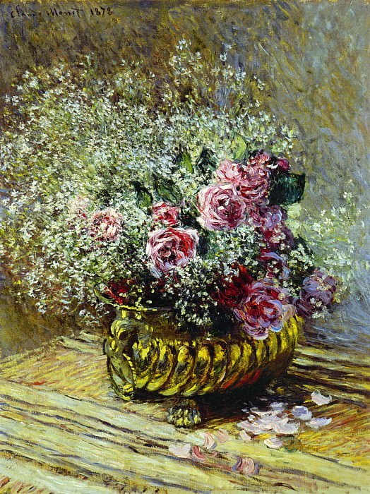Flowers in a Pot. Claude Oscar Monet