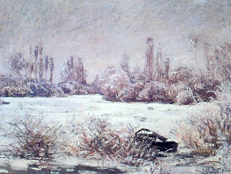 The Frost. Claude Oscar Monet
