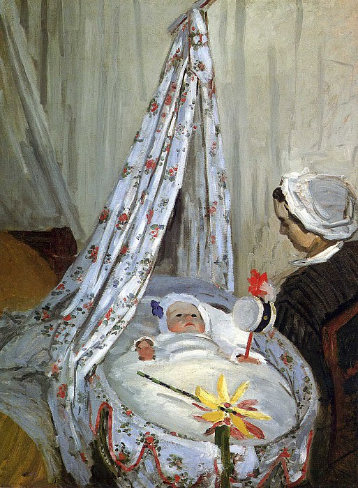 Jean Monet in the Craddle. Claude Oscar Monet