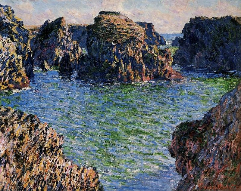Coming into Port-Goulphar, Belle-Ile. Claude Oscar Monet
