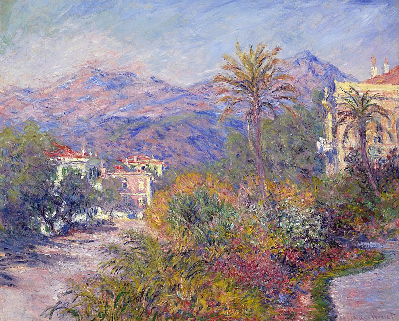 Strada Romada in Bordighera. Claude Oscar Monet