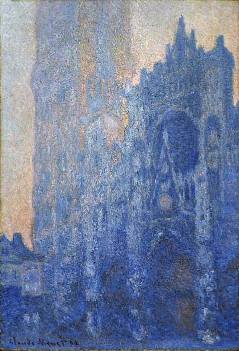 Rouen Cathedral, The Portal and the Tour d'Albane at Dawn. Claude Oscar Monet