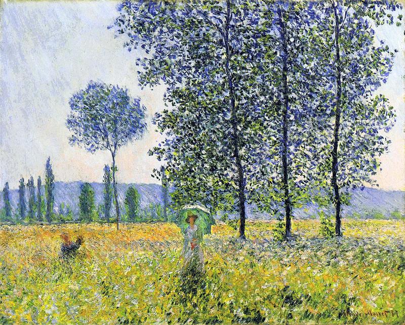 Sunlight Effect under the Poplars. Claude Oscar Monet