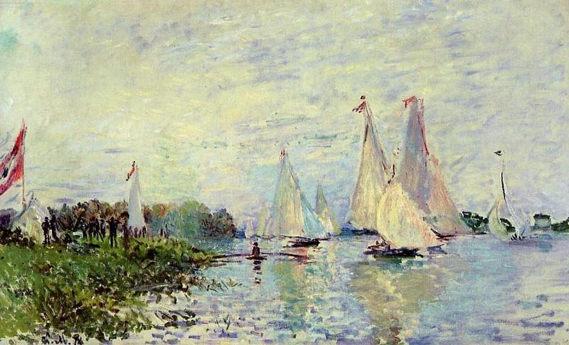 Regatta at Argenteuil. Claude Oscar Monet