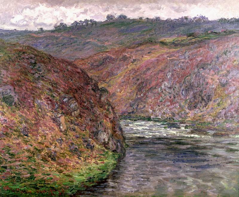 Valley of the Creuse, Grey Day. Claude Oscar Monet