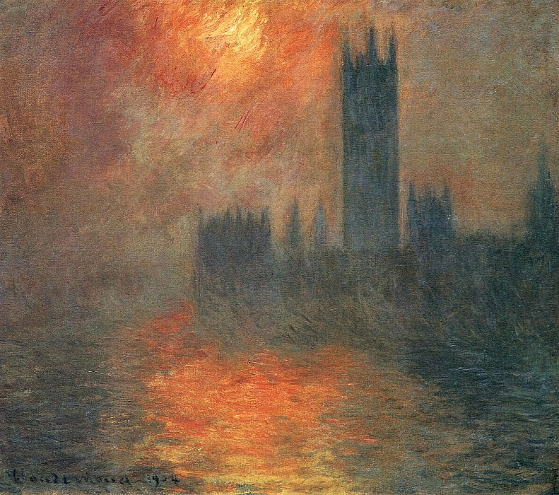 Houses of Parliament, Sunset. Claude Oscar Monet