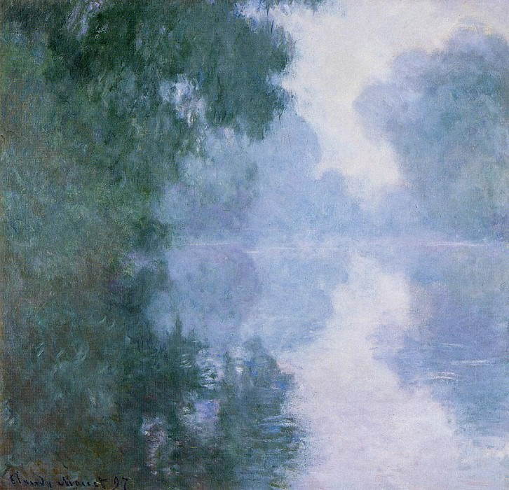 Morning on the Seine near Giverny, the Fog. Клод Оскар Моне