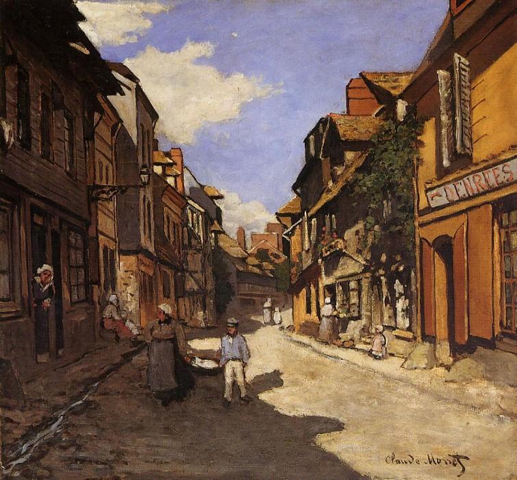 Le Rue de La Bavolle at Honfleur 2. Claude Oscar Monet