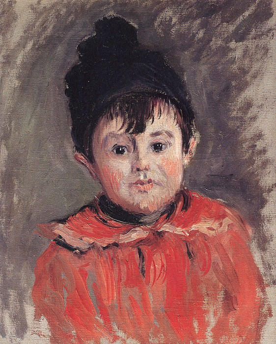 Portrait of Michael with Hat and Pom Pom. Claude Oscar Monet