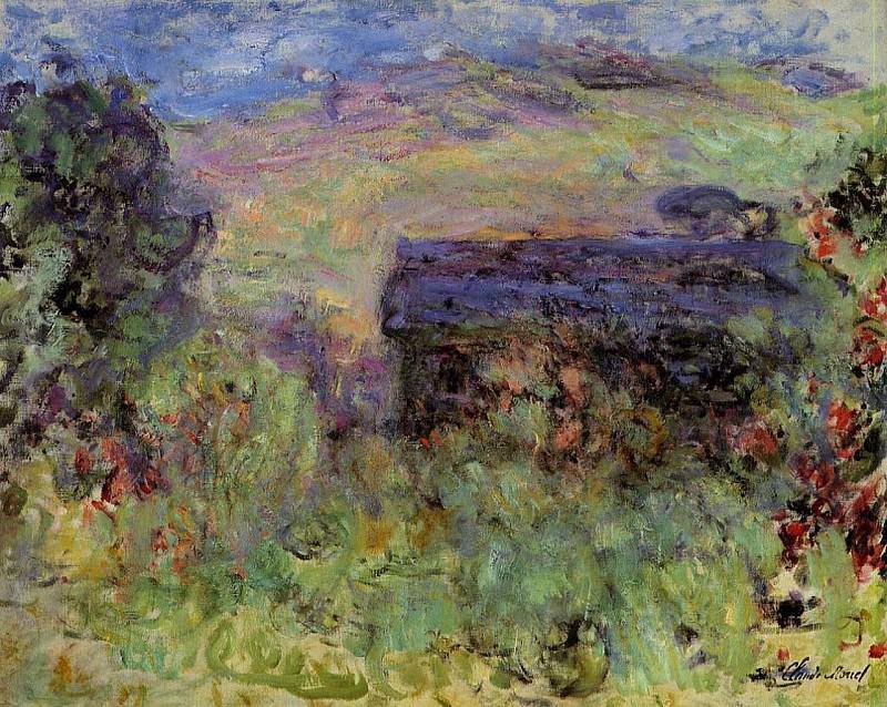 The House Seen through the Roses. Claude Oscar Monet
