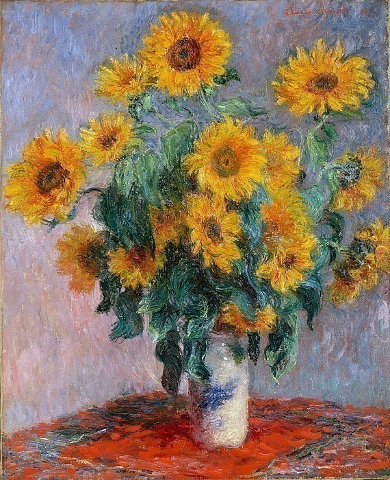 Bouquet of Sunflowers, 1880y. Claude Oscar Monet