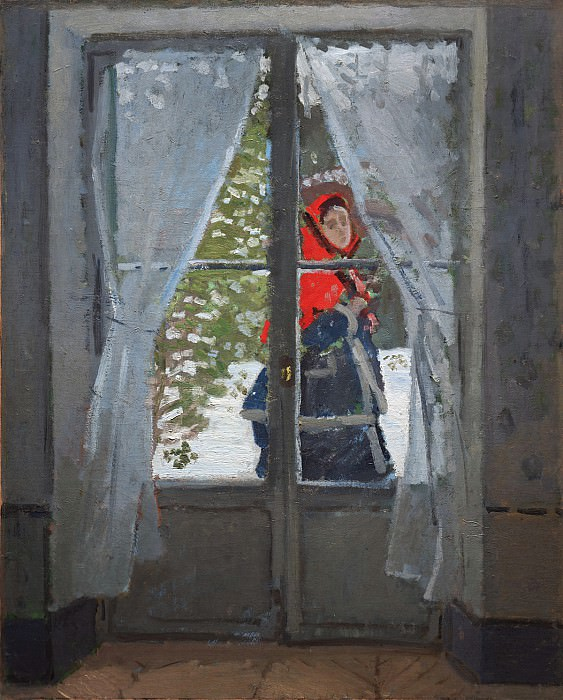 The Red Kerchief, Portrait of Madame Monet. Claude Oscar Monet