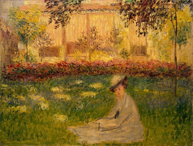 Woman Sitting in a Garden. Claude Oscar Monet