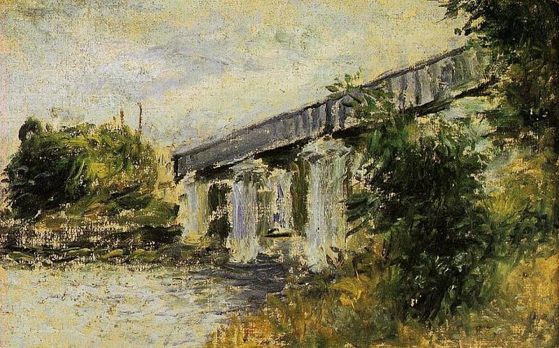 The Railway Bridge at Argenteuil 2. Claude Oscar Monet