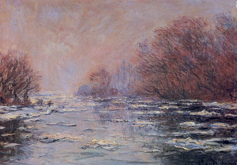 River Thawing near Vetheuil. Claude Oscar Monet