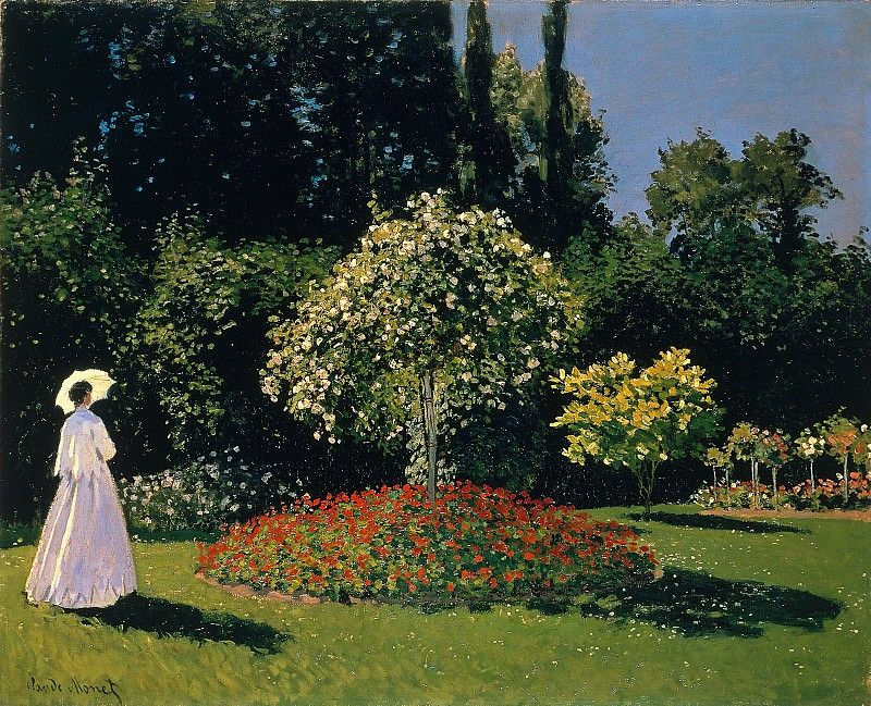 Jeanne Marguerite Lecadre in the Garden. Клод Оскар Моне
