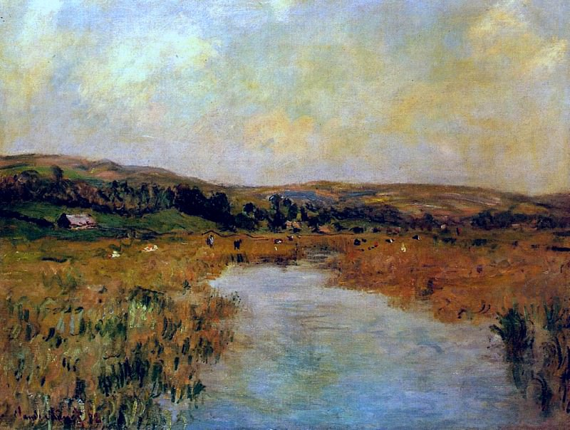 The Valley of the Scie at Pouville. Claude Oscar Monet