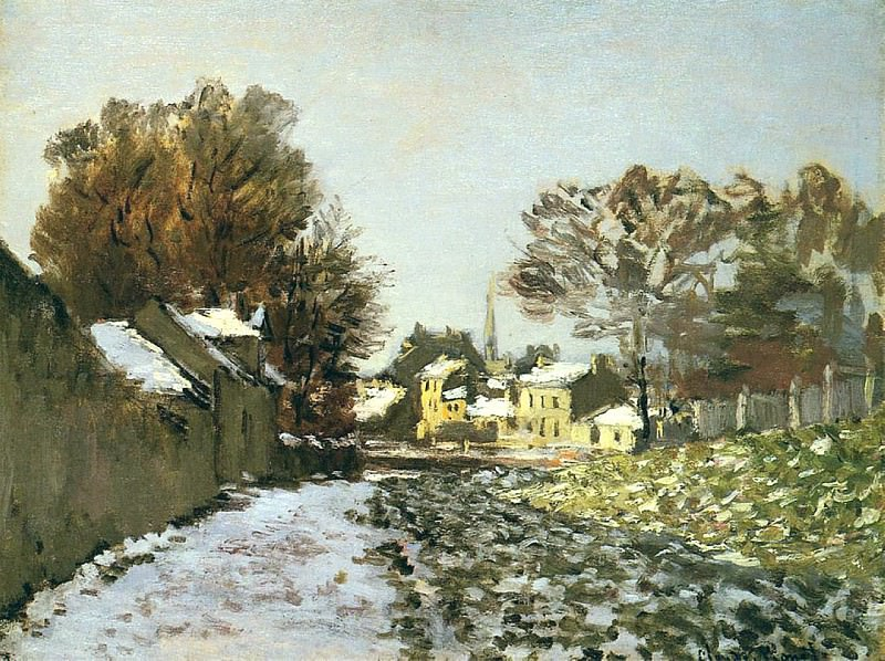 Snow at Argenteuil. Claude Oscar Monet