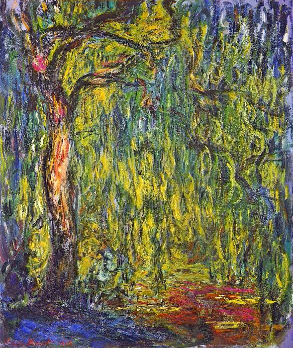 Weeping Willow. Claude Oscar Monet