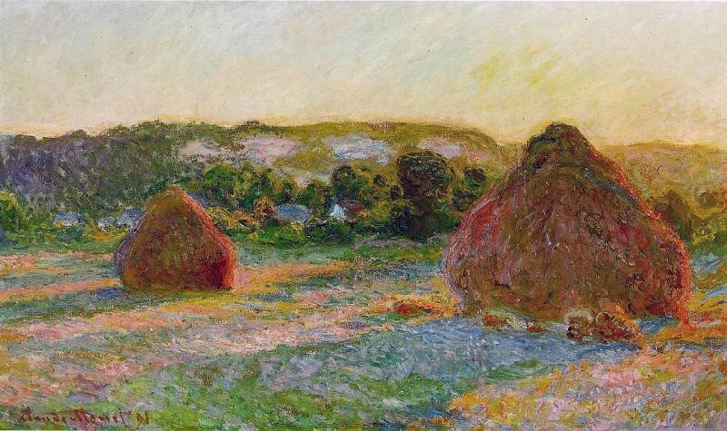 Haytstacks (End of Summer). Claude Oscar Monet