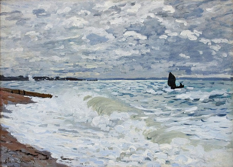 The Sea at Saint-Adresse. Клод Оскар Моне