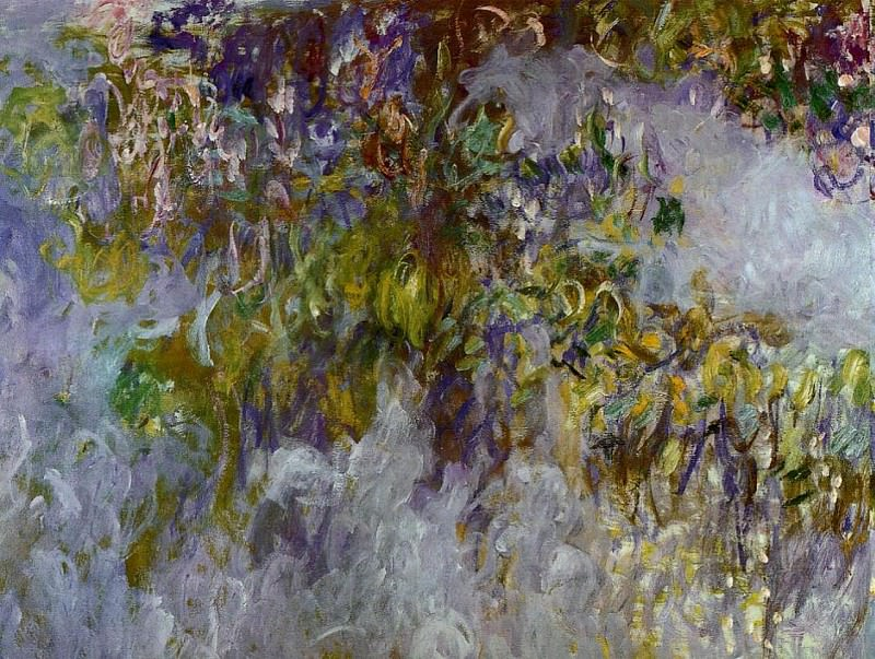 Wisteria (left half). Claude Oscar Monet