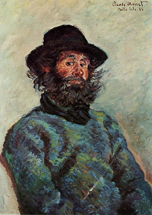 Portrait of Poly, fisherman at Kervillaouen. Claude Oscar Monet