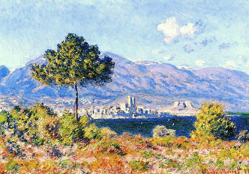 View of Antibes from the Plateau Notre-Dame. Claude Oscar Monet