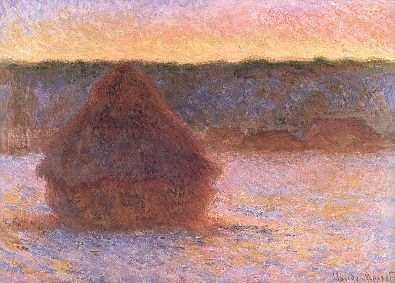 Grainstack at Sunset, Winter, 1890-91 1. Claude Oscar Monet