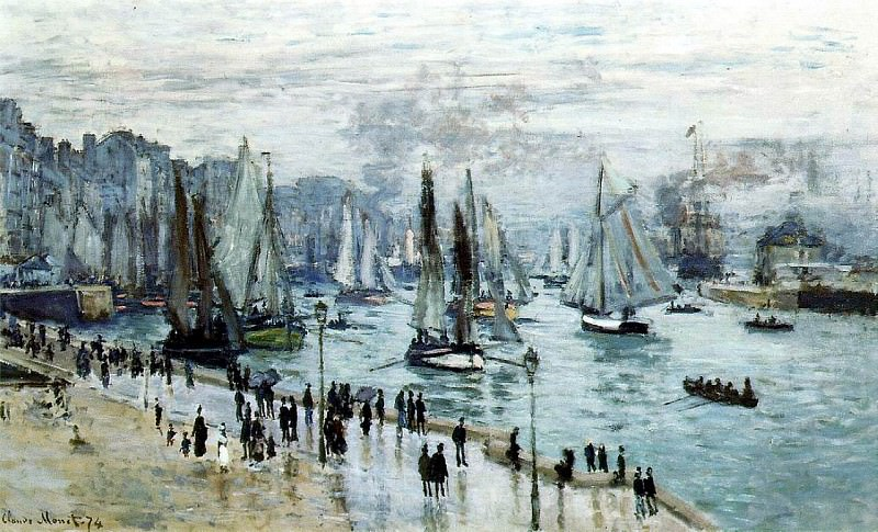 Fishing Boats Leaving the Harbor, Le Havre. Claude Oscar Monet