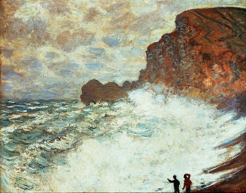 Stormy Seascape. Claude Oscar Monet