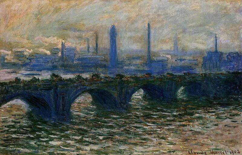 Waterloo Bridge, Misty Morning. Claude Oscar Monet