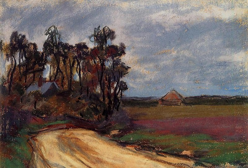 The Road and the House. Claude Oscar Monet