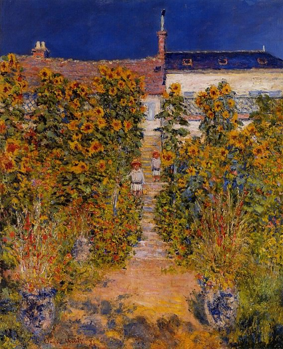 The Artist's Garden at Vetheuil. Claude Oscar Monet