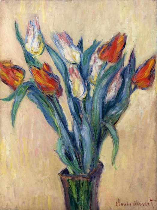 Vase of Tulips. Claude Oscar Monet