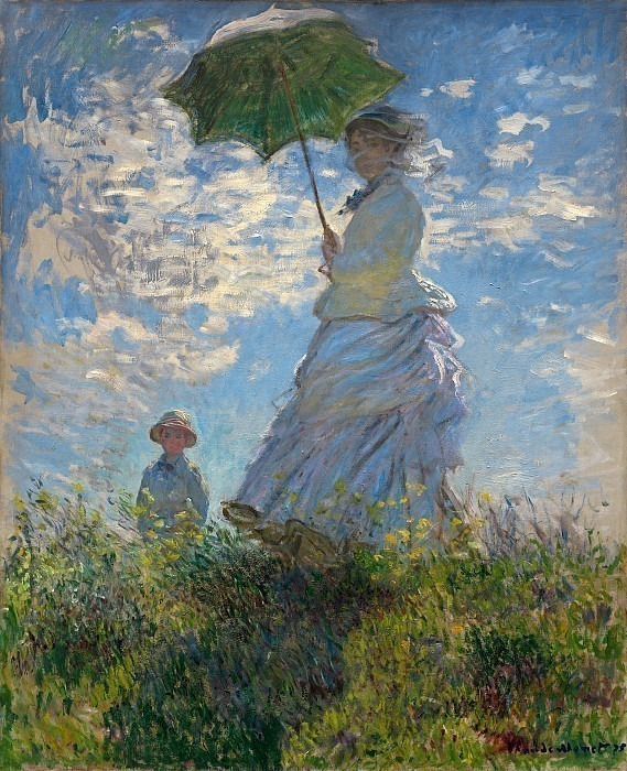 The Promenade, Woman with a Parasol. Клод Оскар Моне