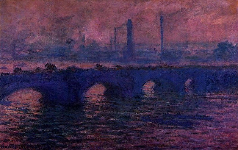 Waterloo Bridge, Overcast Weather 2. Claude Oscar Monet