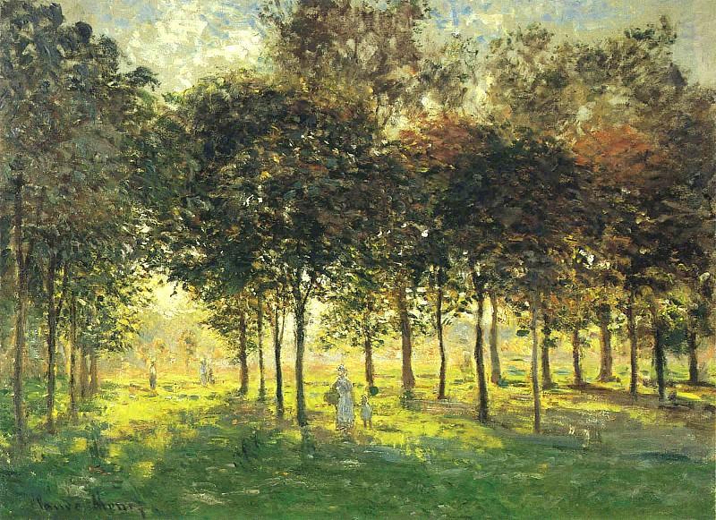 La Promenade d'Argenteuil, Soleil Couchant. Claude Oscar Monet