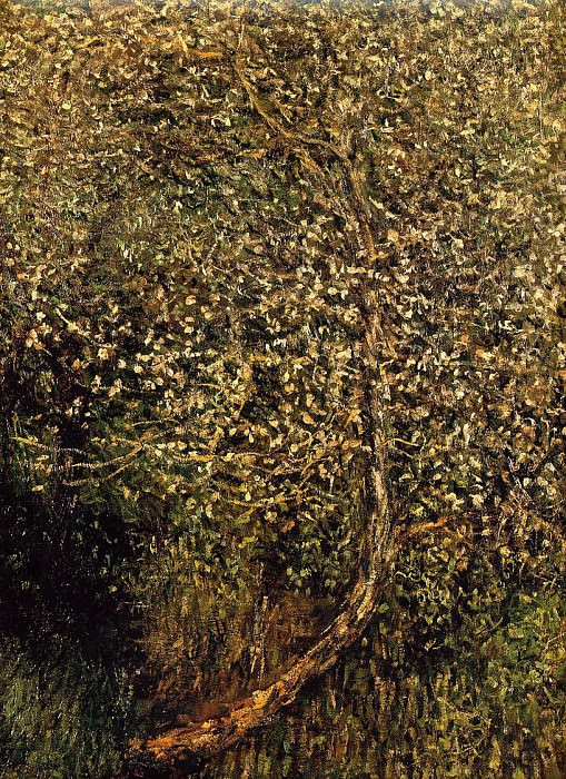Apple Trees in Blossom by the Water. Claude Oscar Monet