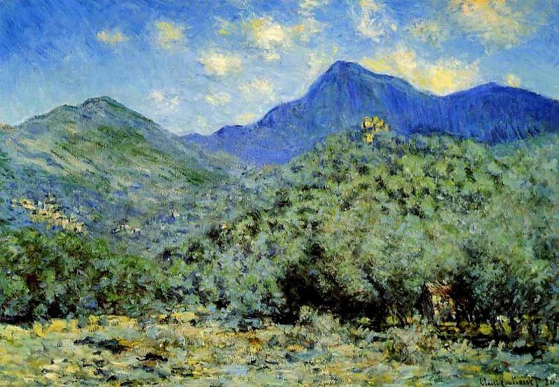 Valle Bouna near Bordighera. Claude Oscar Monet