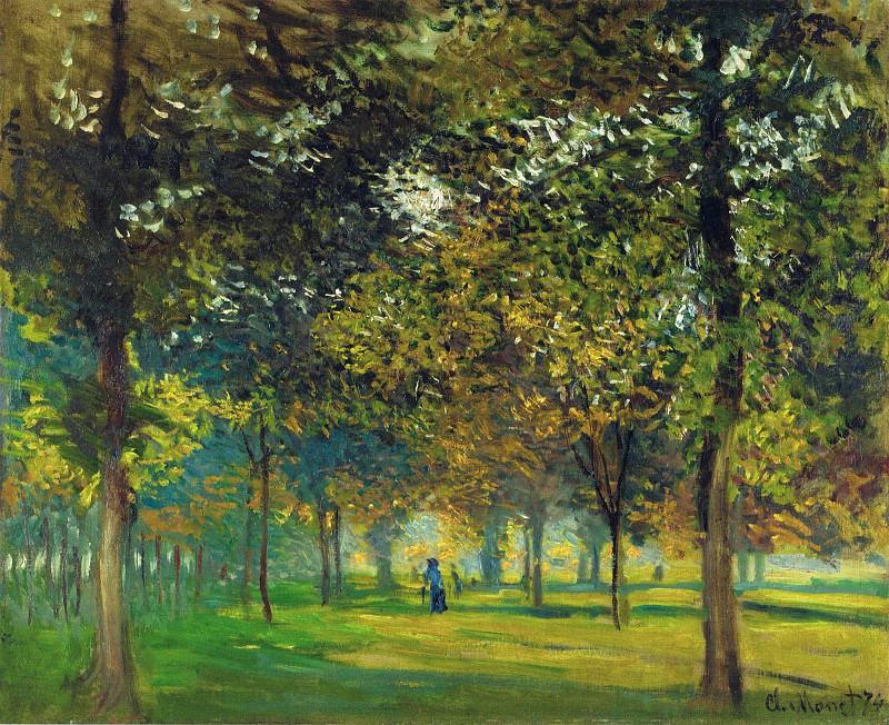 L'Allee du Champ de Foire a Argenteuil. Claude Oscar Monet