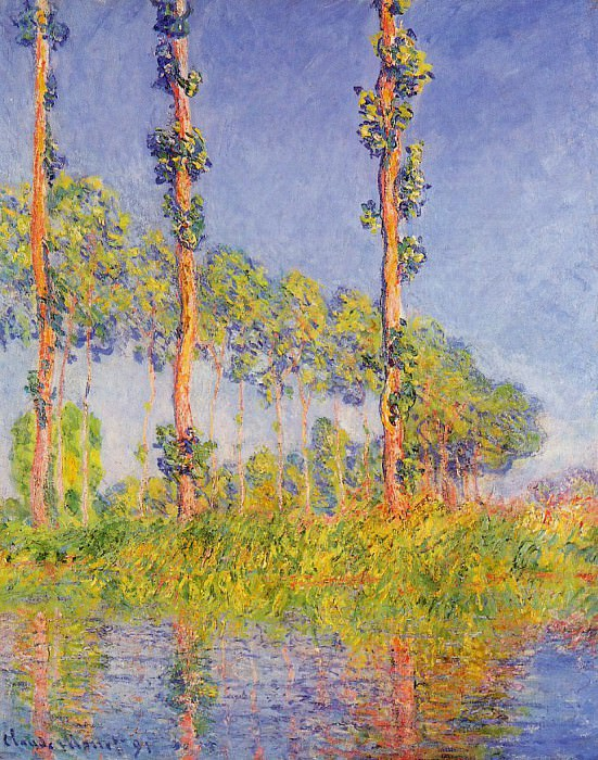 Three Trees, Autumn Effect. Claude Oscar Monet