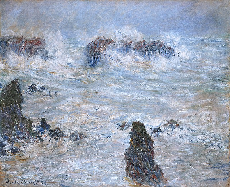 Storm in the Belle-Ile Coast. Claude Oscar Monet