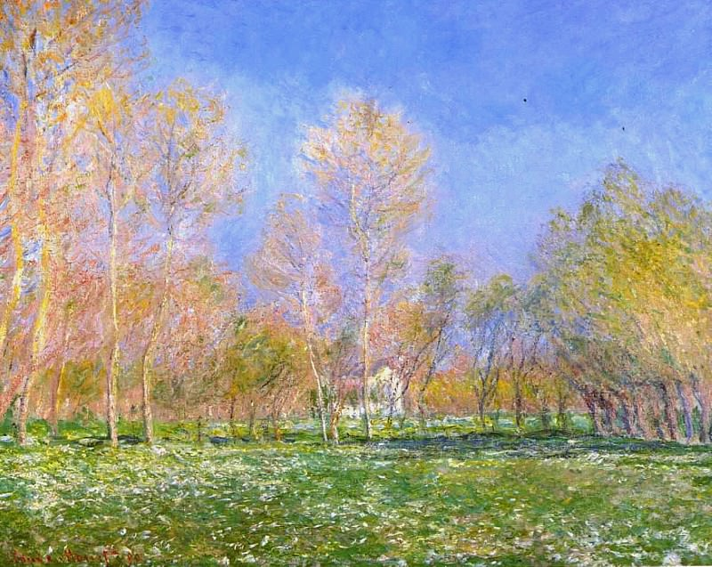 Springtime in Giverny. Claude Oscar Monet