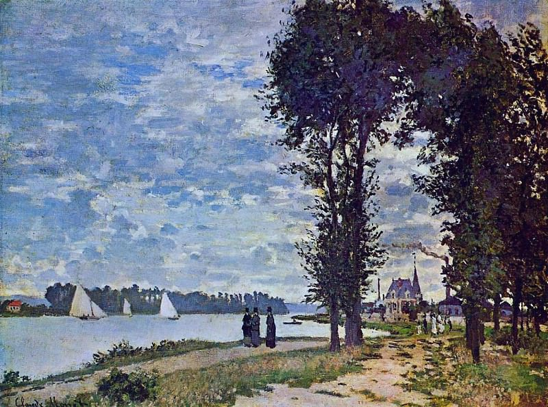The Banks of the Seine at Argenteuil. Claude Oscar Monet