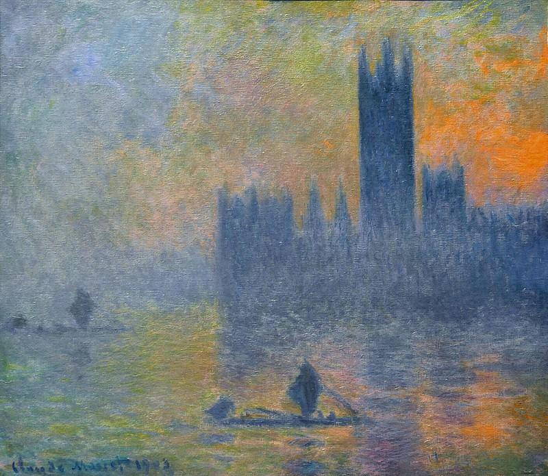 Houses of Parliament, Fog Effect. Claude Oscar Monet
