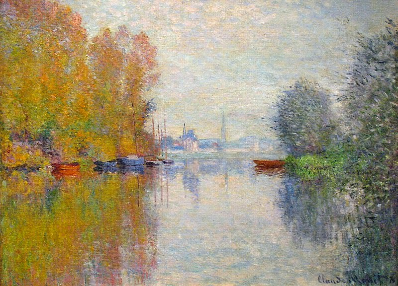 Autumn on the Seine at Argenteuil. Claude Oscar Monet